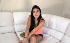 Latina teen sucks and fucks her way into renting a room