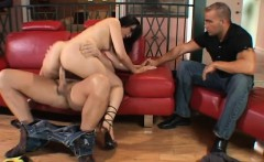 Bodacious brunette wife fucks a stranger's hard dick every way she can