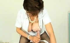 Cock-loving brunette milf hits off creamy dick that is hard