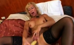 MILF Victoria enjoys big sex toy in her pussy