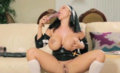 Big Tit Nun Haven Takes Out Her Vibrator