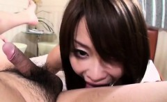 Yuri Aine blows hard before spinning the dick in her vag