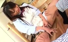 foxy asian wife makes him some food and gets her nice ass f