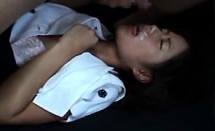 Beautiful Asian babe gets her hairy twat nailed hard missio