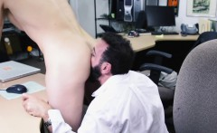 Office straighty pawning his ass for money