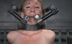 Poor Restrained Girl Screams in Pain!