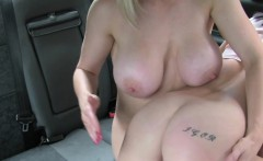 Lesbians licking on the bonnet of fake cab
