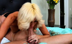 Blonde MILF Rides Huge Cock Tara Holiday