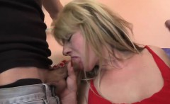 Hot threesome action with a busty mom