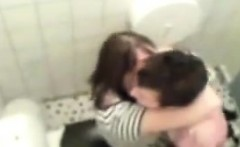 18-Year Old Dollar Caught Fucking in Bathroom