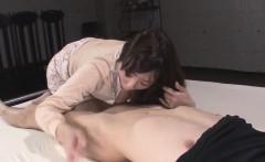 Mizuki Ogawa sucks it hard before placing it in her vag