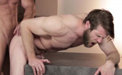 Ripped top god banging bearded bottoms ass