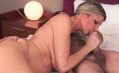 Busty gilf babe jizzed on after sixtynine
