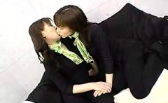 Sultry Japanese babe surrenders her body to a pair of wild
