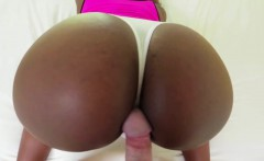 Skyler bend over to rub her nice ass to a hard dick