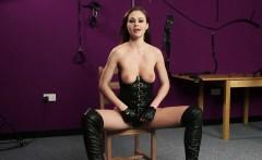 BDSM british babe facialized by maledom