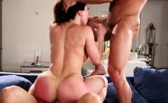 Bigtitted milf spitroasted in taboo trio