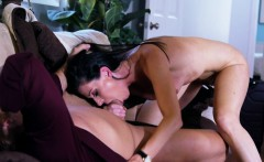 Classy milf covered in cum after doggystyle