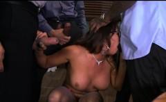 Slut gets Multiple Cocks at Work