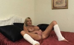 Teen and her man walk in on a naked milf horny to teach