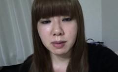 Hairy japanese babe pees