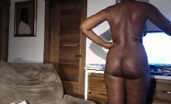 Weny doing striptease and masturbation