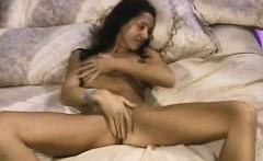 Happy Horny Brunette Housewife Masturbates Home Alone