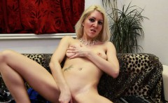 Beautiful blonde is sexy and very horny