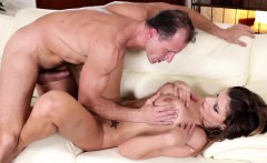 Horny Carolina gets fucked in the couch