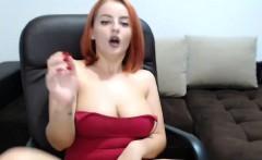 Cam Show With Slutty Big Boobs Redhead