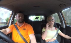 Big tits blonde Barbie Sins gets her pussy ripped in the car
