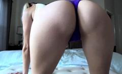 Blonde masturbate on the bed