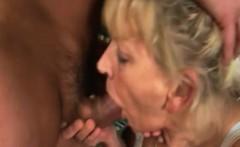 Blonde Granny Sucks And Fucks Young Cock