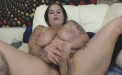 Creamy Jizz From Hairy BBW Pussy After Hard Toying