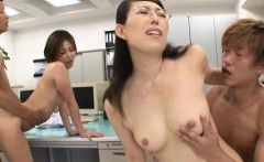 Office chick gets to fuck and engulf their colleagues