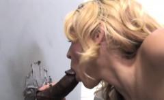 Gloryhole Slut Katie Summers Fucks Black Dick