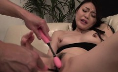 Bewitching japanese stimulates her cunt with a vibrator