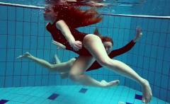 Two hot teens underwater