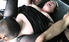 Christiane gets banged by 3 dudes