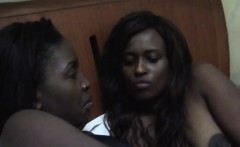Ebony chicks love pleasing each other's tight pussies. They