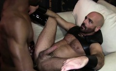 Muscle slave anal sex with cumshot