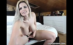 Warm Big Tits Model Squirts Over Herself While Masturbating
