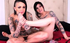 These Two Tattooed Babes Make Each Other Cum Hard