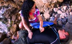 Defiling A Pretty Latina Schoolgirl At The Beach
