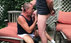 Horny Daddy Worships and Sucks Cock with Passion