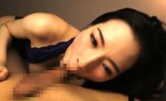Nursing on Big Asian Knockers Leads to Handjob