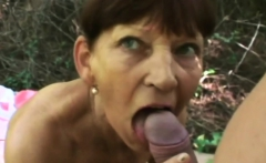 Naughty GILF devouring a massive young sausage