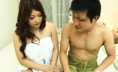 Japanese milf spreads legs for cock in hot episode scene