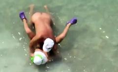 Mature Couple Sex In The Sea