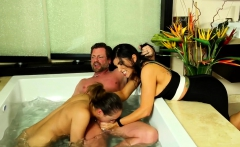 Masseuse in threesome
